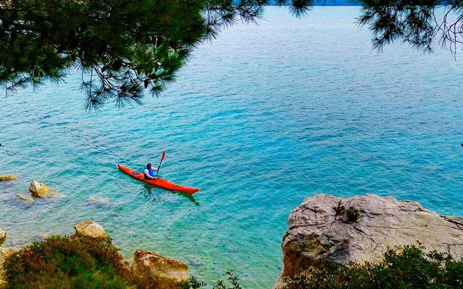 Kayaking on the Mediterranean in Croatia